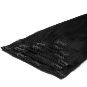 Extensii Clip On 50cm 70g Negru Închis 01-0