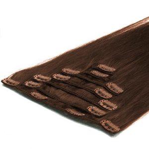 Extensii Clip On 50cm 70g Saten Ciocolatiu 04-0