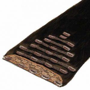 Extensii Clip On Deluxe 50cm 200g Saten Mochachino 1C-0