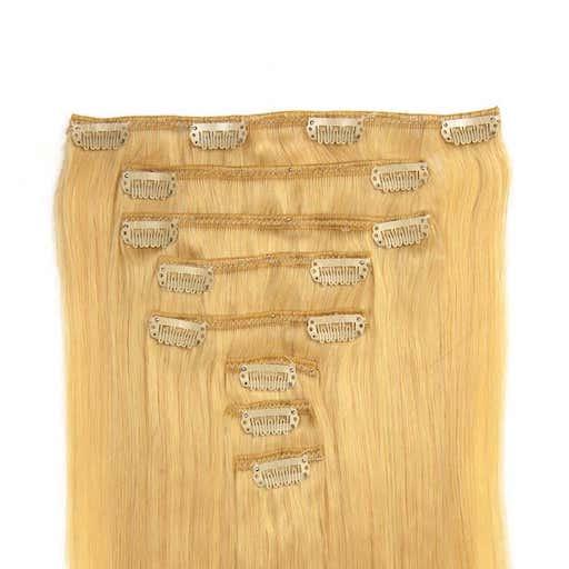 Extensii Clip On 60cm 160g Blond Deschis 613-0